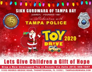 ♥️ TAMPA GURDWARA TOY DRIVE 2020 IN COLLABORATION WITH TAMPA POLICE